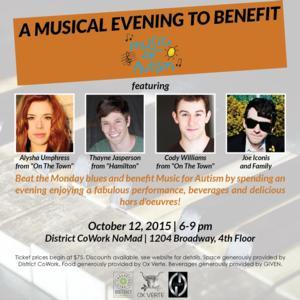 Alysha Umphress, Joe Iconis & More Set for Music for Autism Benefit, 10/12