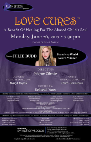 Broadway Stars Set for 'LOVE CURES' Benefit for Abused Children at Symphony Space