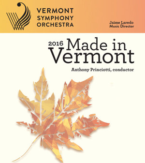 Vermont Symphony Launches 'Made in Vermont' Statewide Tour, 9/23