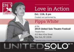 LOVE IN ACTION Set for United Solo Festival, 10/11