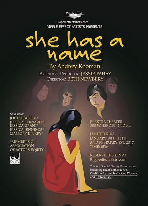 SHE HAS A NAME to Debut 1/18 in Limited Run at The Elektra Theatre