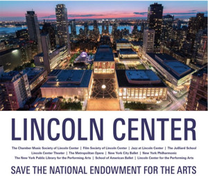 Lincoln Center Releases Statement in Support of the NEA: 'Art Anchors Communities'
