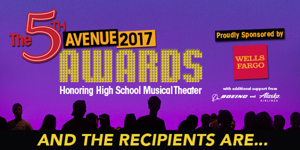 Recipients Announced for 5th Avenue Awards Honoring High School Musical Theater