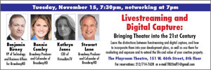Founders of BroadwayHD and More Set for TRU's November 'Live Streaming' Panel Tonight