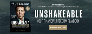 Tony Robbins Returns With UNSHAKEABLE: YOUR FINANCIAL FREEDOM PLAYBOOK, Set for Release 2/28