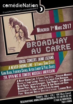 A NEVER-ENDING LINE at Broadway au Carré