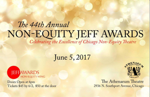 Jeff Awards 2017 Non-Equity Nominations Announced