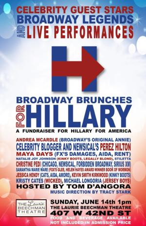 Broadway to Brunch for Hillary Clinton This Weekend