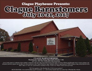 Clague Playhouse Seeks Young Playwrights with Summer BARNSTORMERS WORKSHOP