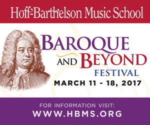 Hoff Barthelson Music School's BAROQUE AND BEYOND To Begin Today