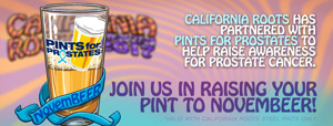 California Roots Partners with Pints for Prostates in NovemBEER