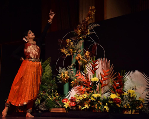 Unique Performance Melds Classical Bharatnatyam Dance with Japanese Ikebana