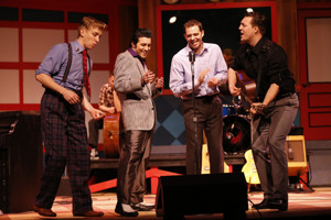 BWW Review: Early Legends of Rock and Roll Light Up the Stage in MILLION DOLLAR QUARTET at Riverside Center