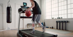 Local Teenage Showcases Ball Handling on Treadmill in National Campaign for March Madness