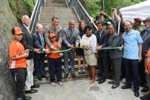 NYC Parks Cuts Ribbon on Restored Historic John T. Brush Stairway