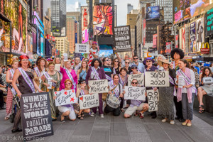 Photo Flash: The League of Professional Theatre Women Lead Equality March Through Times Square