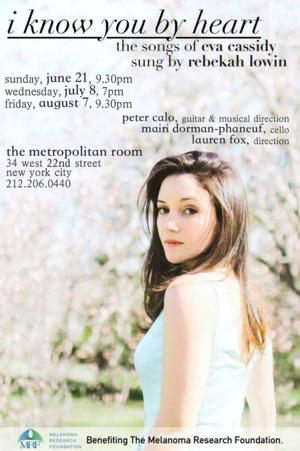 Rebekah Lowin to Bring I KNOW YOU BY HEART to the Metropolitan Room, Beginning 6/21
