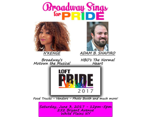 N'Kenge and Adam B. Shapiro to Sing for Pride at LOFT Pride 2017 Celebration this Saturday