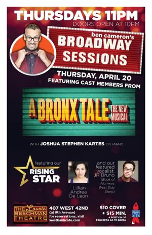 A BRONX TALE Stars Set for This Week's BROADWAY SESSIONS