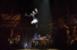 HAMILTON, THE INVISIBLE HAND Artists Top 2015 Henry Hewes Design Awards