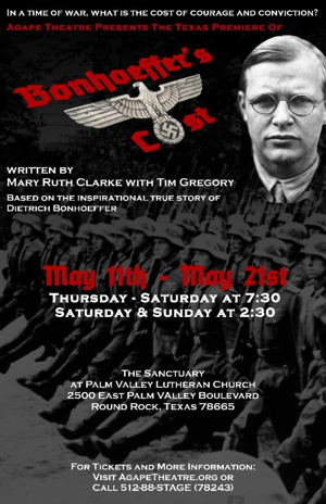 Agape Theatre Announces Cast for BONHOEFFER'S COST