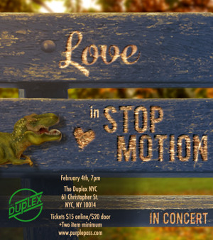 Artemis Theatrical to Present LOVE IN STOP MOTION in Concert at the Duplex