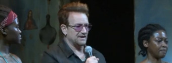 STAGE TUBE: Bono Joins ECLIPSED Cast Onstage to Honor Abducted Nigerian Schoolgirls
