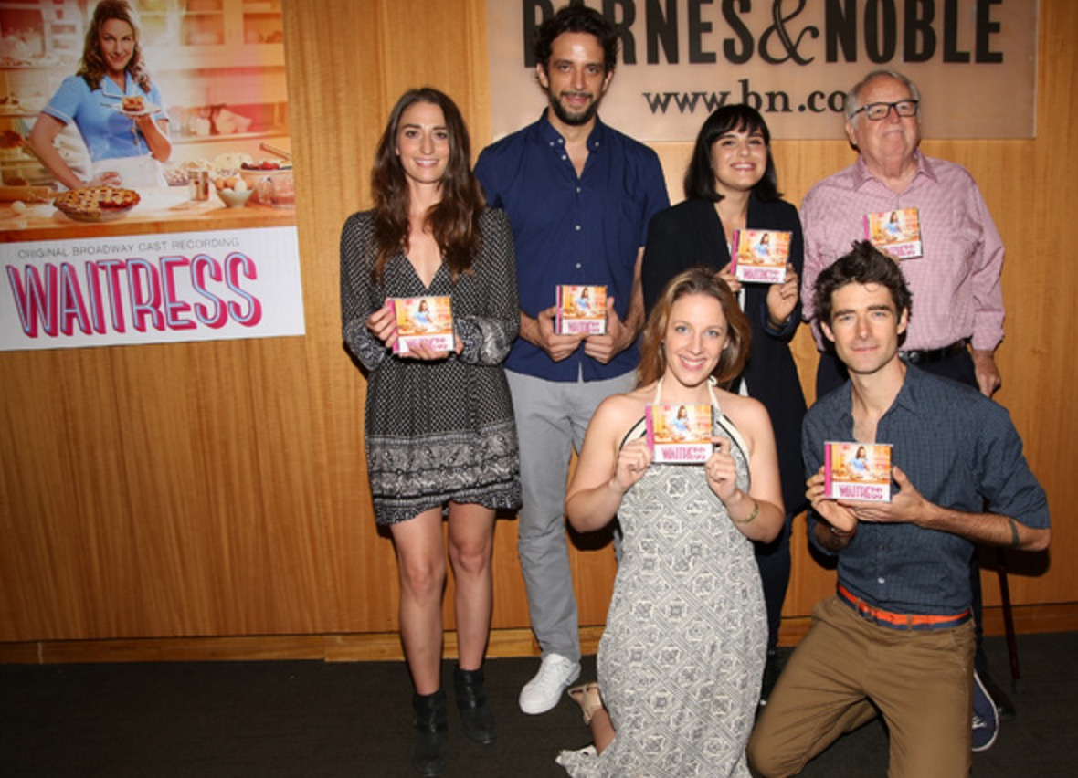 Photo Coverage Waitress Company Signs Cast Albums At