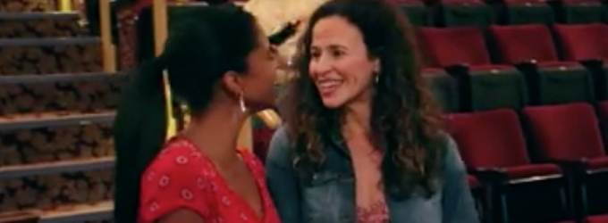 STAGE TUBE: Watch Renee Elise Goldsberry Welcome Mandy Gonzalez Back to the Richard Rodgers Theatre!