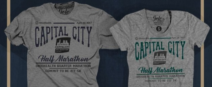 VIDEO: First Reveal of the New Locally-Made Participant T-Shirts for the 2017 OhioHealth Capital City Half Marathon