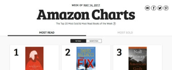 Amazon Announces Amazon Charts - A Bestseller List for What People are Really Reading and Buying