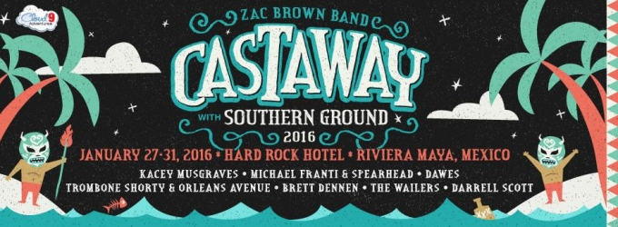 Zac Brown Band Announces 'Castaway with Southern Ground' Concert Experience