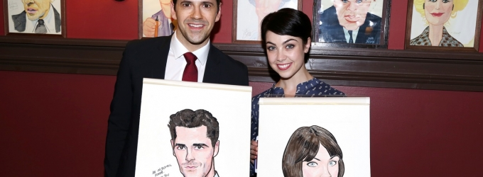 Photo Coverage: AN AMERICAN IN PARIS' Tony-Nominated Leads Get Sardi's Caricatures!