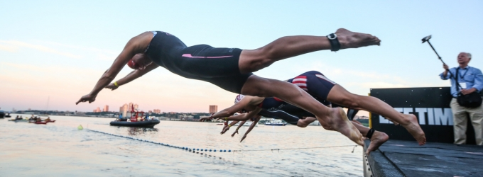 Cameron Dye and Sarah Haskins-Kortuem Win the 2016 Panasonic New York City Triathlon