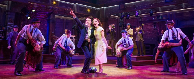 Photo Flash: First Steps First! Get a Look at Laura Osnes and Corey Cott in BANDSTAND on Broadway