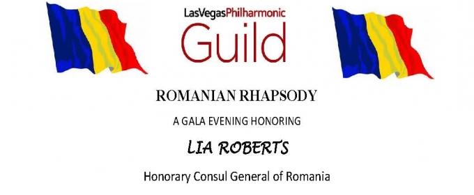 Las Vegas Philharmonic Guild Hosts ROMANIAN RHAPSODY GALA To Honor Lia Roberts, 6/3