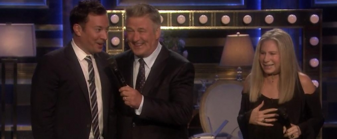 VIDEO: Un-Aired Footage - Barbra Streisand/Alec Baldwin TONIGHT SHOW Duet Goes Off the Rails