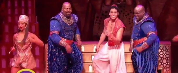 VIDEO: Seeing Double - Major Attaway Joins James Monroe Iglehart for Special ALADDIN Performance