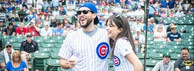 Exclusive Photo Coverage: ON YOUR FEET Stars Ana Villafañe and Josh Segarra Throw Out First Pitch at Chicago Cubs Game