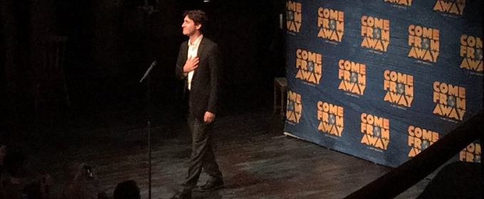 Social: Welcome to the Rock! Justin Trudeau Addresses the Audience at Tonight's Performance of COME FROM AWAY