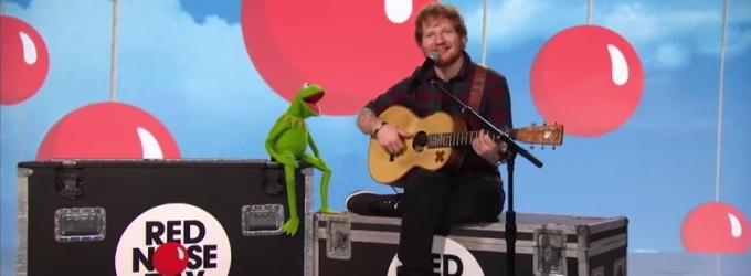VIDEO: Ed Sheeran & Kermit Make a Rainbow Connection on Red Nose Day