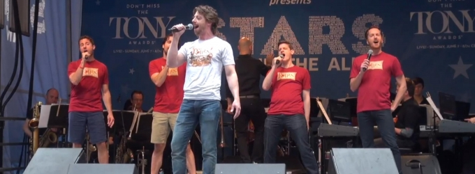 BWW TV: Christian Borle & Cast of SOMETHING ROTTEN Prove 'It's Hard to Be the Bard' at Stars in the Alley!