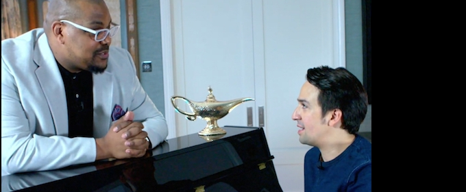 BWW TV EXCLUSIVE: Lin-Manuel Miranda Talks Disney, London with ALADDIN's Trevor Dion Nicholas