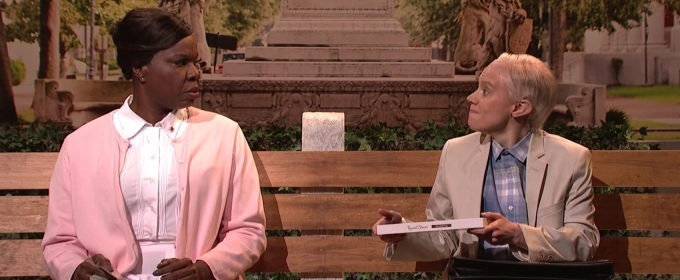 STAGE TUBE: Run, Jeffy, Run! SNL and Kate McKinnon Take on Jeff Sessions with Forrest Gump Bus Stop Confessionals