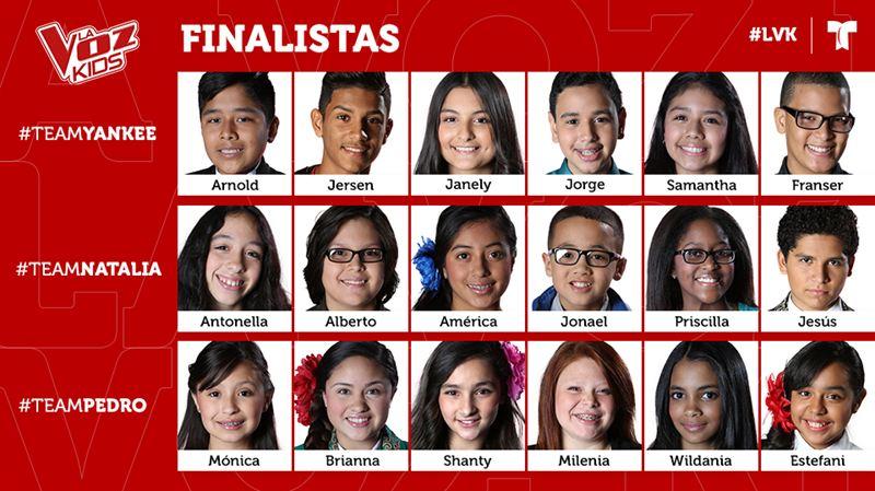 18 Kids Head to Final Phase of Telemundo's LA VOZ KIDS
