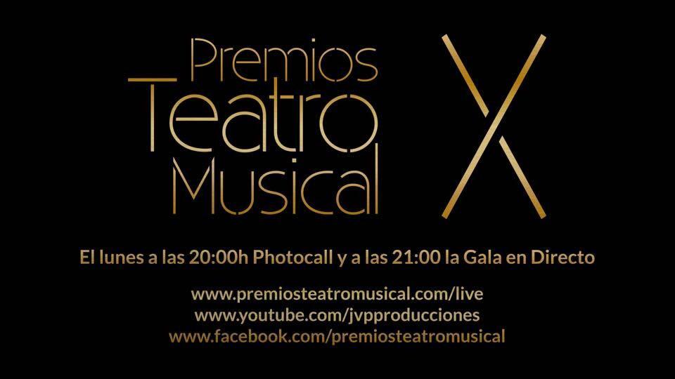Retransmisión en directo de los PREMIOS TEATRO MUSICAL
