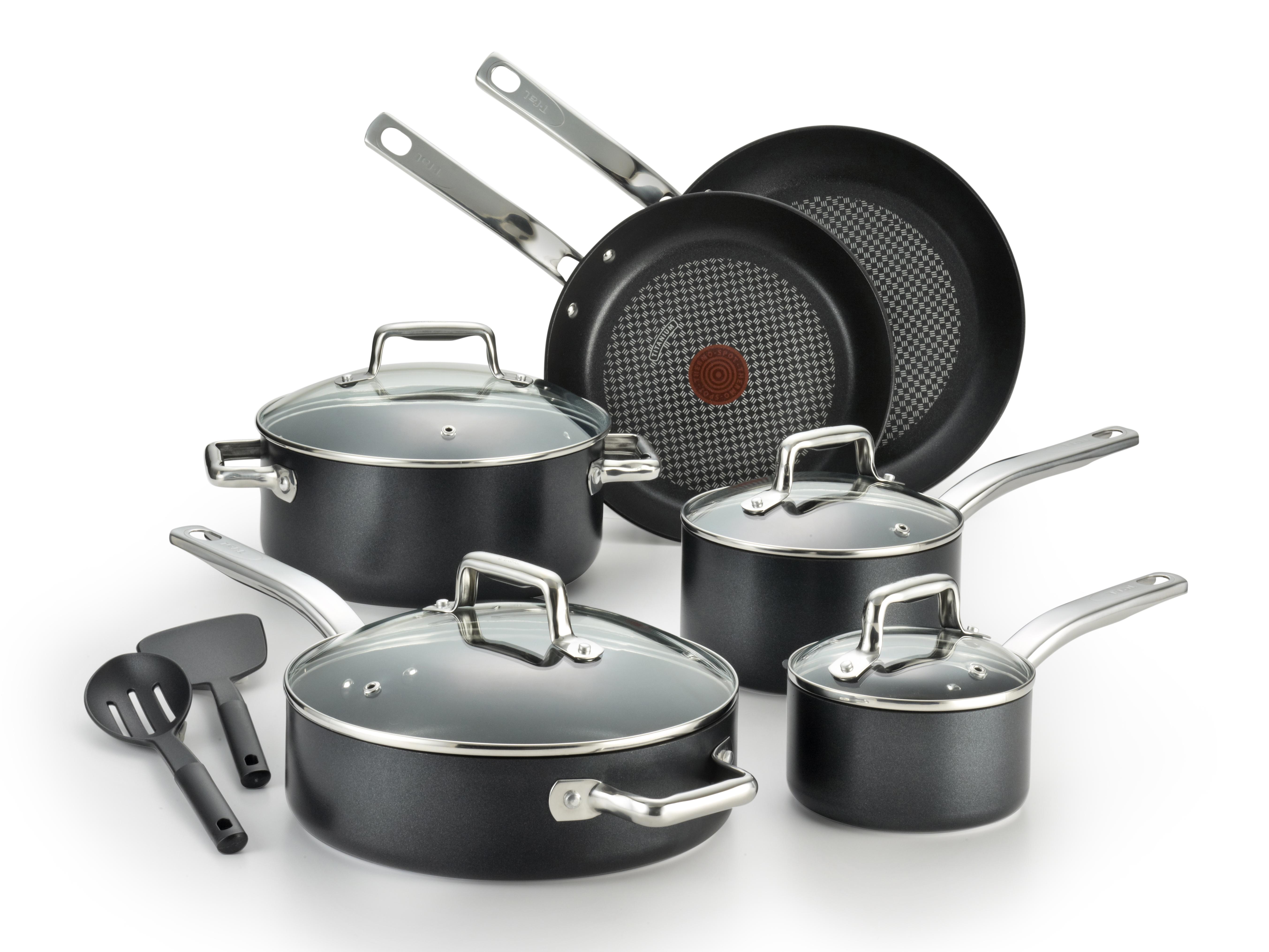 T Fal Pro Grade Titanium 12 Piece Non Stick Cookware Makes