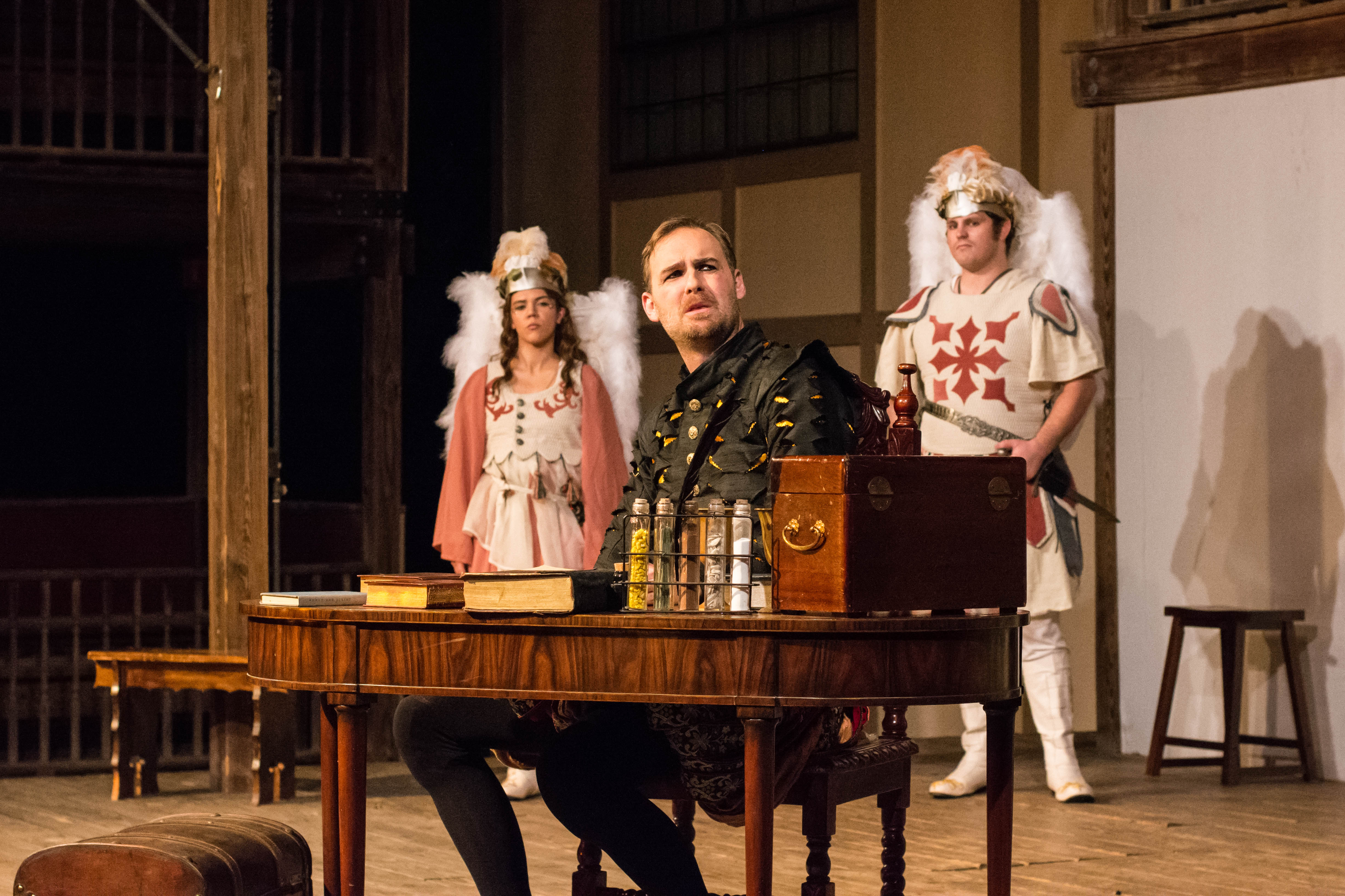 review of doctor faustus It may be more spectacle than substance, but this production of doctor faustus is  so jolly that one can't help but be carried along on the tide of.