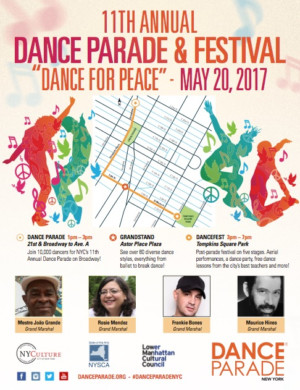 "Grand Marshals Announced for 11th-Annual Dance Parade as Performers Citywide Prepare to ""Dance for Peace"""
