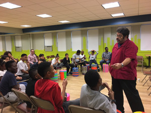 ArturoO'Farrill Coaches Students at NYC's Mission Society MusicProgram